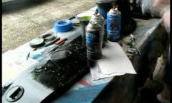 Longboard Spray Art