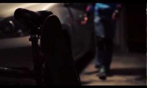 Blind skateboarder. Be brave, be safe.